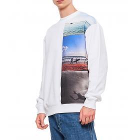 Felpa Calvin Klein Jeans con stampa fotografica surf da uomo rif. J30J312858