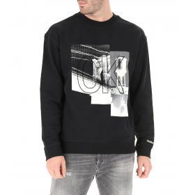 Felpa Calvin Klein Jeans girocollo con stampa da uomo rif. J30J313741