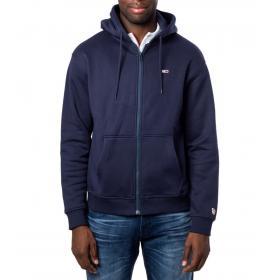 Felpa Tommy Hilfiger Jeans con zip e cappuccio felpata da uomo rif. DM0DM07200