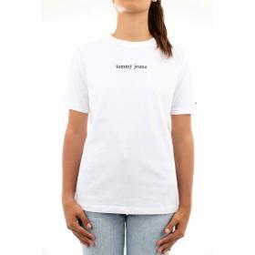 T-shirt Tommy Hilfiger Jeans con stampe con logo da donna rif. DW0DW06714