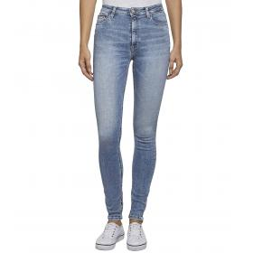Jeans Tommy Hilfiger Jeans a vita alta slim fit cinque tasche da donna rif. DW0DW06885