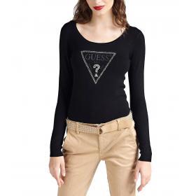 Maglione Guess con stampa triangolo logo e applicazioni da donna rif. W93R70Z2760