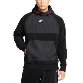 Felpa pullover Nike con cappuccio in misto pile da uomo rif. CD3156