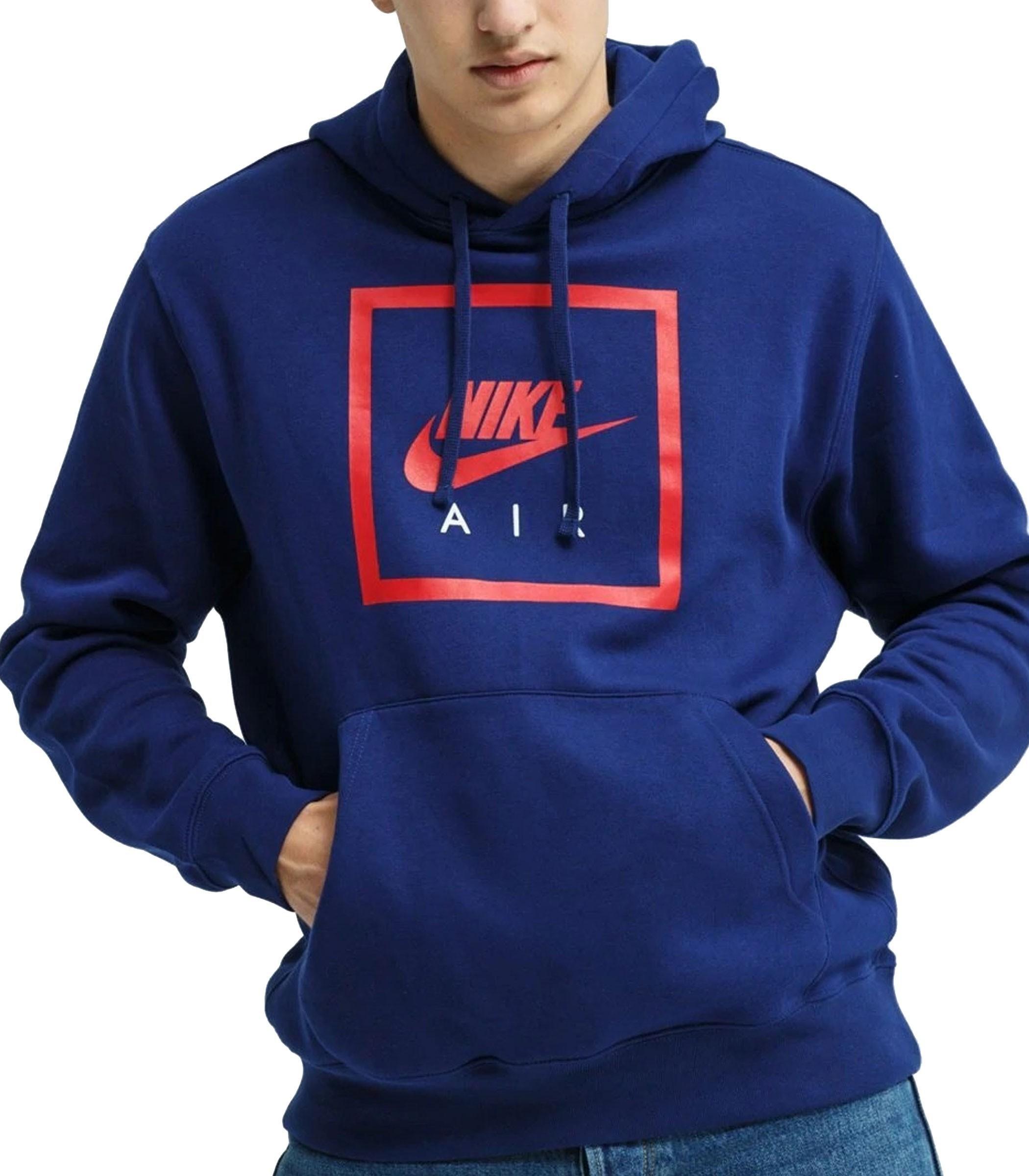 Felpa Uomo Air colore Rosso Blu Nike