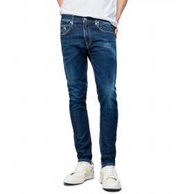 Jeans Replay skinny fit Johnfrus cinque tasche da uomo rif. M1000.000.227 523