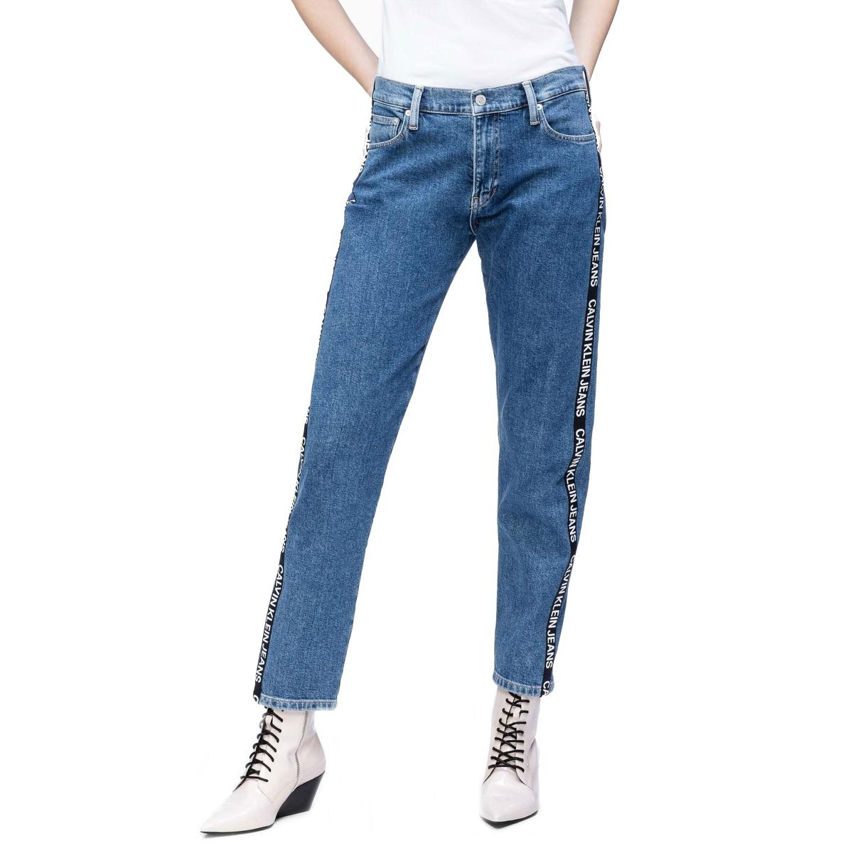 Jeans Calvin Klein Jeans con bande laterali con logo da donna rif. J20J211798