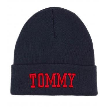 Berretto Cappello Tommy Hilfiger Jeans Varsity Beanie unisex rif. AU0AU00306