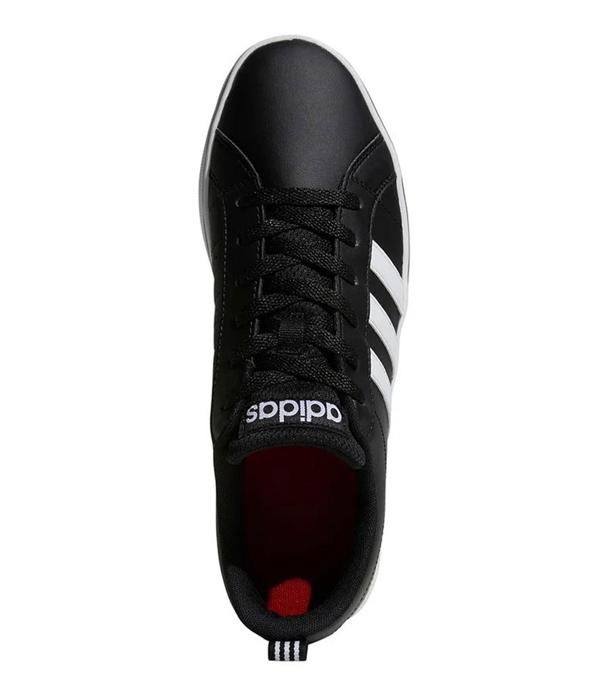 Scarpe Sneakers Adidas VS Pace in pelle nere e bianche da
