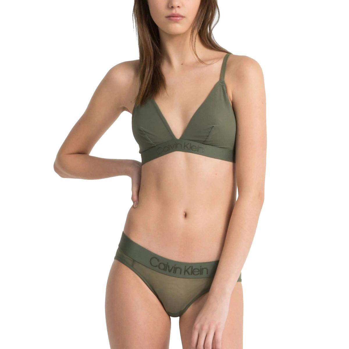 Reggiseno Calvin Klein Underwear a triangolo Tonal Logo da donna rif. 000QQF4984E
