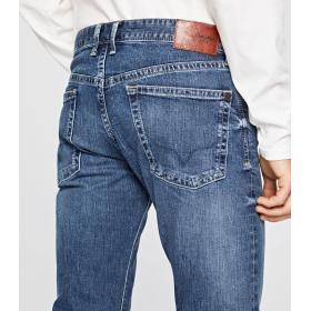 Jeans Pepe Jeans Hatch slim fit low waist cinque tasche da uomo rif. PM200823Z232