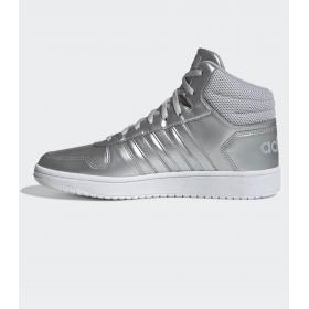 Scarpe Sneakers Adidas Hoops 2.0 Mid a collo alto da donna rif. EE7857