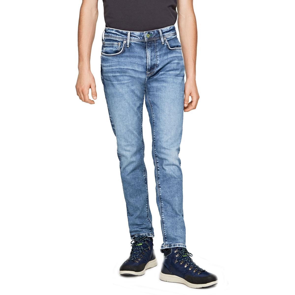 Jeans Pepe Jeans Stanley Taper fit regular waist da uomo rif. PM201705WV72