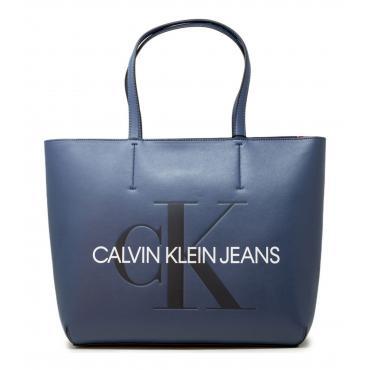 Borsa Calvin Klein Jeans Tote 29 Monogram Sculpted da donna rif. K60K605521