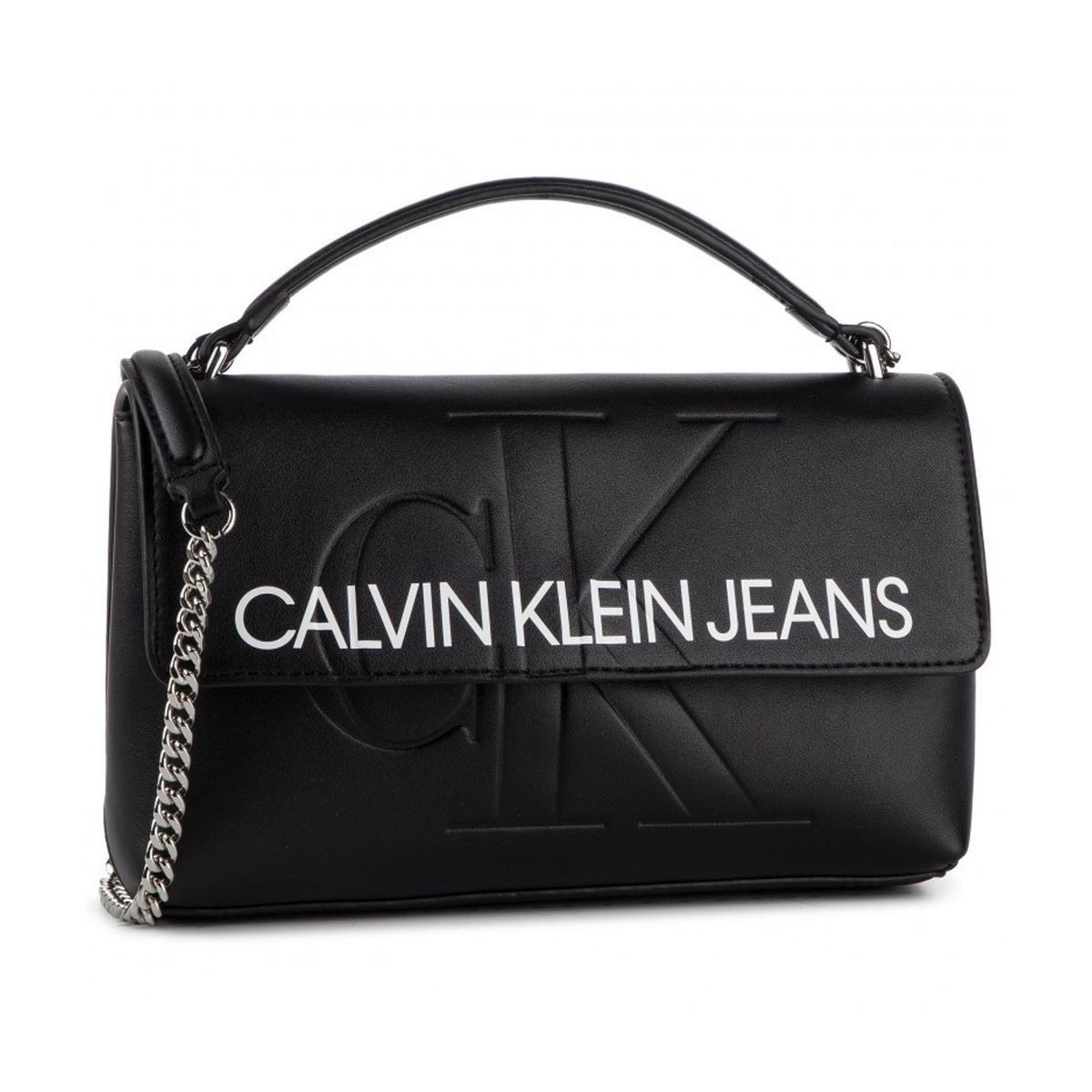 Borsa Calvin Klein Jeans a tracolla in ecopelle con patta da donna rif. K60K605523