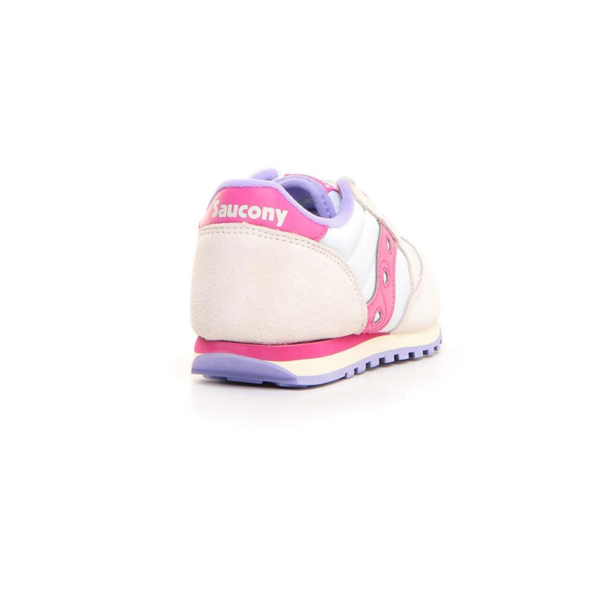 Scarpe Sneakers Saucony Jazz Original White/Berry da bambina rif. SK162931