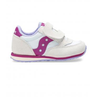 Scarpe Sneakers Saucony Baby Jazz HL White/Berry da bimba rif. SL162939