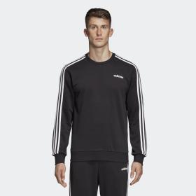 Felpa Adidas Essentials 3-Stripes girocollo con logo da uomo rif. DQ3083