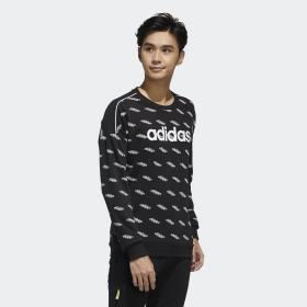 Felpa Adidas Favorites girocollo con logo all over da uomo rif. FM6077