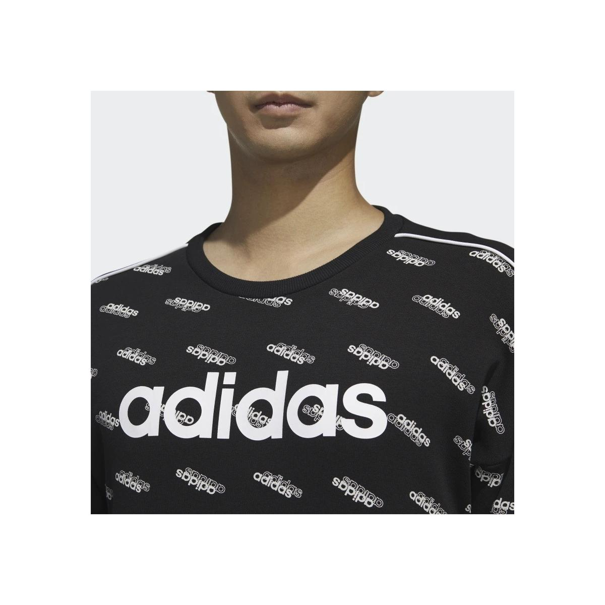 Felpa Adidas Favorites girocollo con logo all over da uomo rif. FM6077