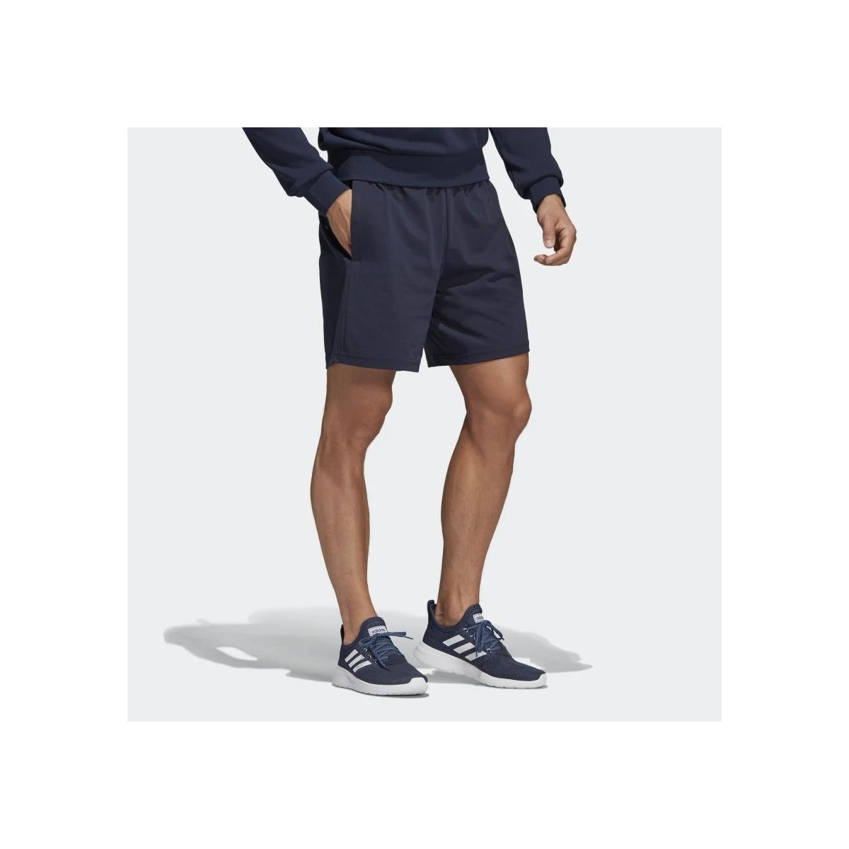 Shorts pantaloncini Adidas Linear sportivi con stampa laterale da uomo rif. DU0417