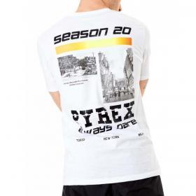 T-shirt Pyrex girocollo in jersey di cotone con stampa posteriore da uomo rif. 20EPC40959