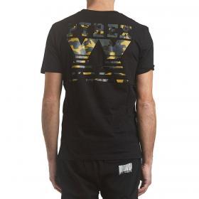 T-shirt Pyrex con logo sul petto e maxi stampa mimetica posteriore da uomo rif. 20EPB40784