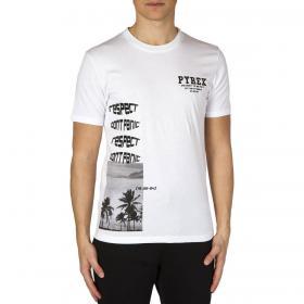 T-shirt Pyrex girocollo a maniche con stampe laterali da uomo rif. 20EPC41113