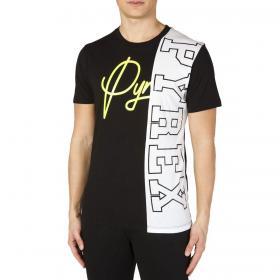 T-shirt Pyrex con stampa e maxi logo laterale da uomo rif. 20EPB40782