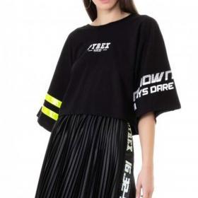 T-shirt Pyrex in jersey di cotone con stampa sulle maniche da donna rif. 20EPC41006