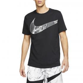 T-shirt Nike Dri-fit con maxi swoosh in tessuto traspirante da uomo rif. CD1105