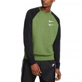 Felpa Nike Sportswear con big swoosh sul retro da uomo rif. CJ4871