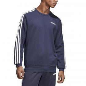 Felpa Adidas Essentials 3-Stripes con logo sul petto da uomo rif. DU0484