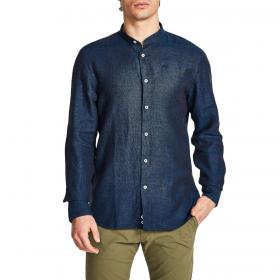 Camicia North Sails puro lino collo alla coreana regular fit da uomo rif. 663525 000