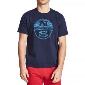 T-shirt North Sails con maxi logo sul petto da uomo rif. 692548 000