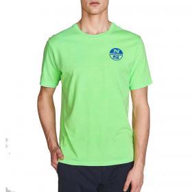 T-shirt North Sails regular fit effetto vintage da uomo rif. 692566 000