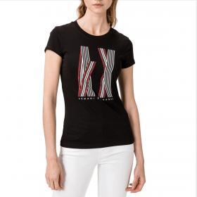 T-shirt Armani Exchange slim fit con maxi stampa da donna rif. 3HYTAX YJG3Z