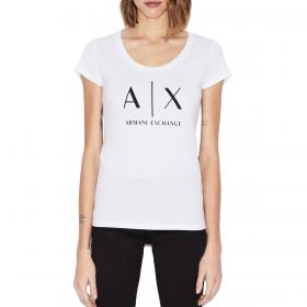 T-shirt Armani Exchange slim fit in cotone pima da donna rif. 8NYT70 YJ16Z