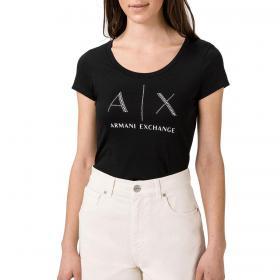 T-shirt Armani Exchange con stampa sul petto da donna rif. 8NYT83 YJ16Z
