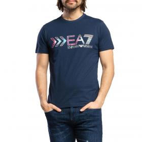 T-shirt Emporio Armani EA7 con stampa a contrasto da uomo rif. 3HPT16 PJ02Z