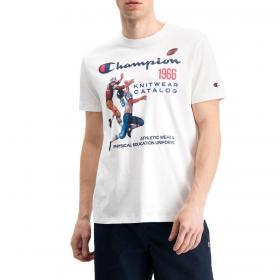 T-shirt Champion girocollo con stampa vintage da uomo rif. 214345