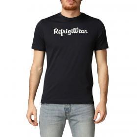 T-shirt RefrigiWear girocollo con stampa sul petto da uomo rif. JE9101