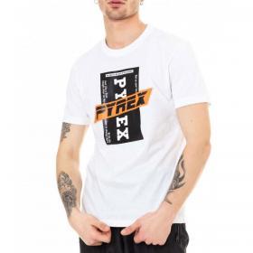 T-shirt Pyrex girocollo con stampa sul petto da uomo rif. 20EPC40956