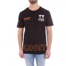 T-shirt Pyrex girocollo maniche corte con stampe da uomo rif. 20EPC40935