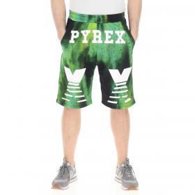 Bermuda Shorts Pyrex in rete con stampe da uomo rif. 20EPC40985