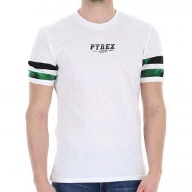 T-shirt Pyrex con fasce in rete traforate sulle maniche da uomo rif. 20EPC40982