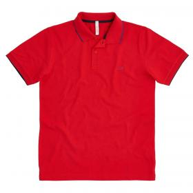Polo SUN68 Small Stripe on Collar El. con mini logo da uomo rif. A30106
