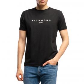 T-shirt John Richmond Hasselt con stampa sul petto da uomo rif. UMA19006TS