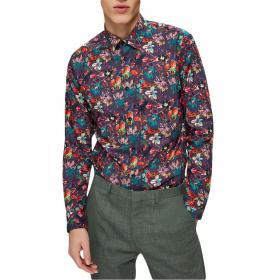 Camicia Selected slim fit fantasia stampa floreale da uomo rif. 16072007