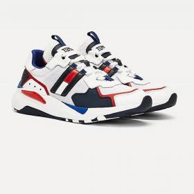 Scarpe Sneakers Tommy Jeans stringate con suola spessa da uomo rif. EM0EM00484