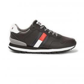 Scarpe Sneakers Tommy Jeans running color block in pelle da uomo rif. EM0EM00577
